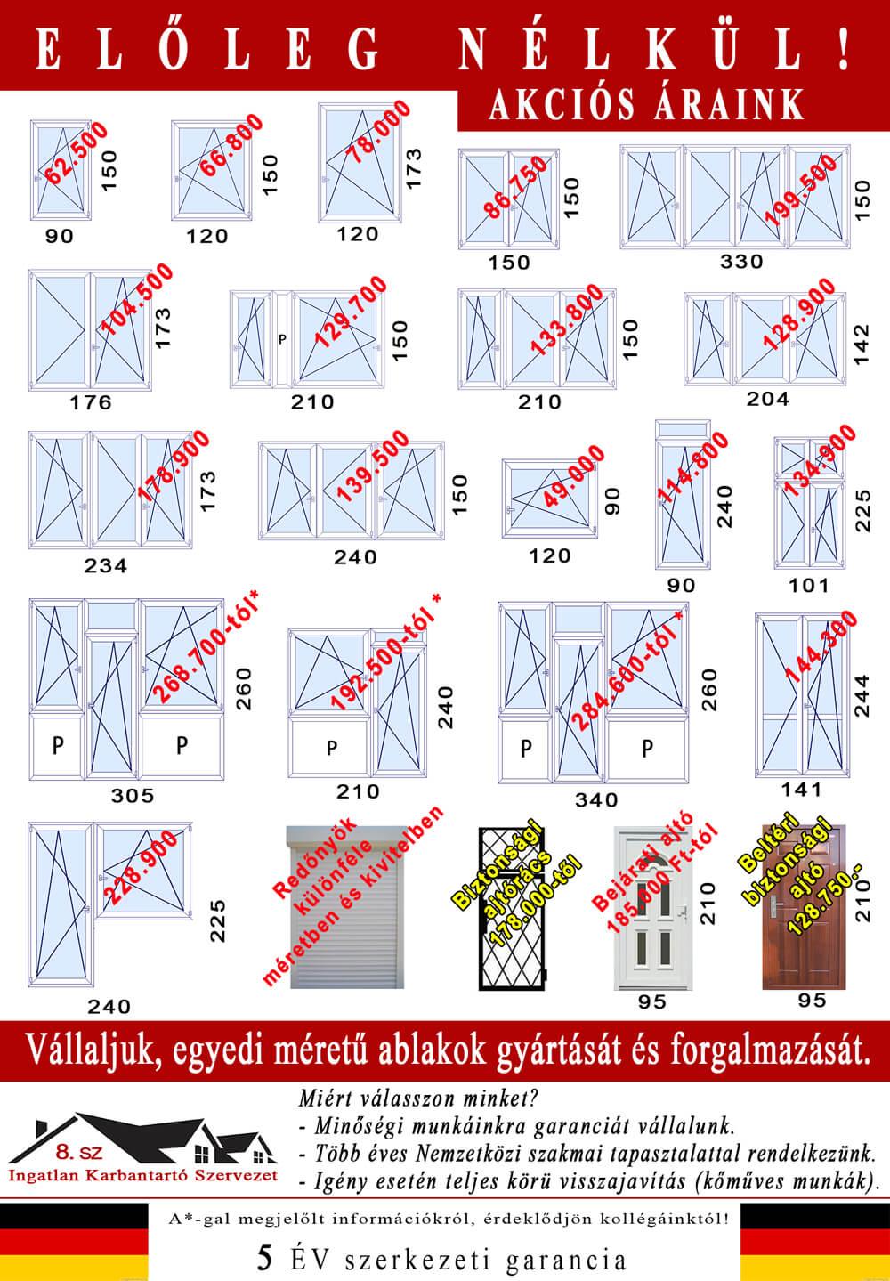 2017 őszi szórólap Budapest összes kerületében és Pest megyében